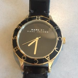 Marc by Marc Jacobs black and gold watch